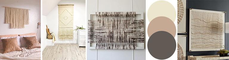 Beige fiber wall art is your friend