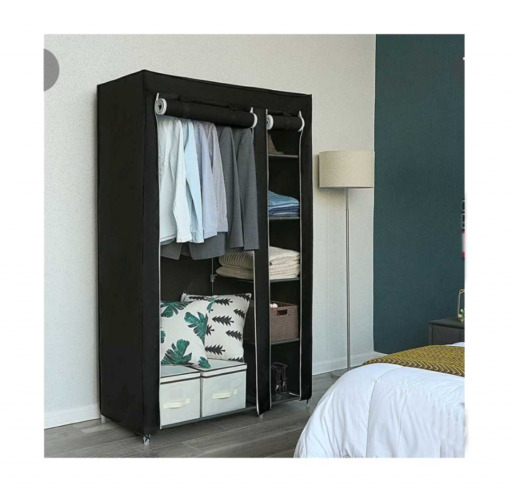 Extra space helps you keep your home storage and organization essentials project on track. This standalone closet makes more room where you need it.