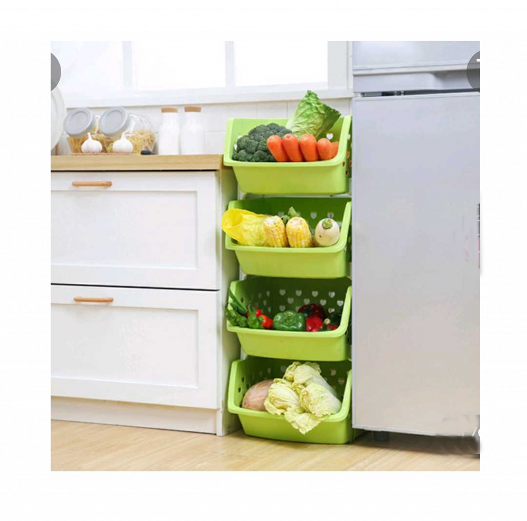 Produce racks make room available in the refrigerator for your storage and home essentials project.