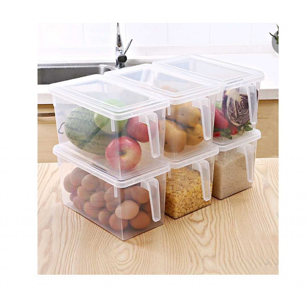 Stackable storage containers for the refrigerator or pantry offer flexible options for your storage and home essentials project.
