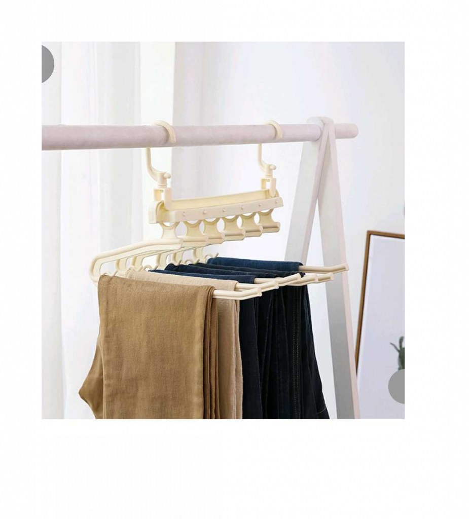 Pants racks in your closet make more room for a more efficient use of space for your storage and home essentials project..
