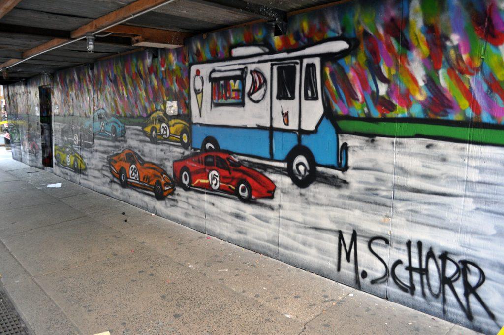 One of Mitchell Schor's murals.