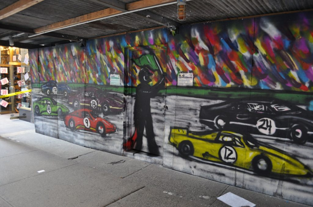 Street artist Mitchell Schorr in his Midtown art studio.